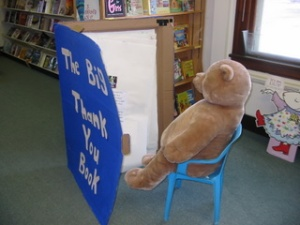 The Big Bear enjoys The Big Thank You Book