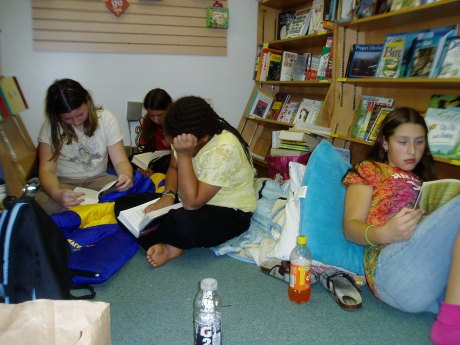 Reading in the kids' room